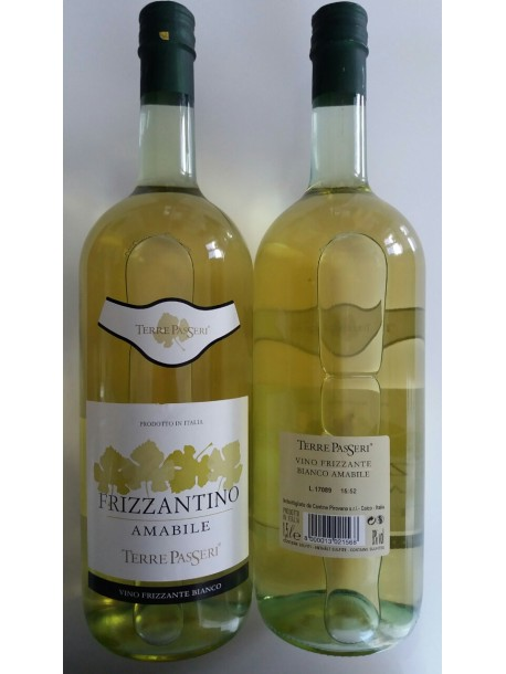 Вино игристое белое terre passeri frizzantino amabile bianco 8% 1.5l
