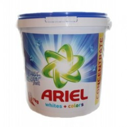 Стиральный порошок для белья 9 кг Whites+Colors универсальный Ariel Lenor 120 стирок