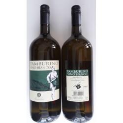Белое сухое вино Tamburino vino bianco 10,5% 1.5л