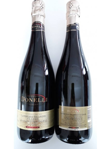 Игристое вино donelli 1915 lambrusco salamino di s.croce 750mл