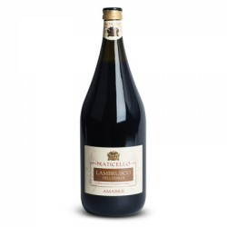 Вино игристое красное Lambrusco Praticello Dell'Emilia Amabile 1.5L.