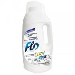 Пятновыводитель Flo Oxy Power для белого 1500 мл.