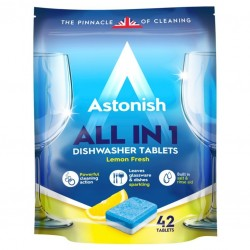 Таблетки для посудомоечных машин Astonish Все в одном 42 шт в упаковке (0048256221800)