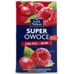 Чай Lord Nelson Super Owoce Dzika roza & Malina 20 пакетов
