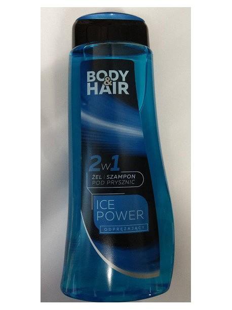 Гель для душа Body and Hair Ise Power 2 w 1, 500 мл (Польша)