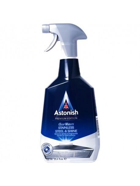Для очистки изделий из нерж. стали Astonish Stainless Steel shine  750 мл