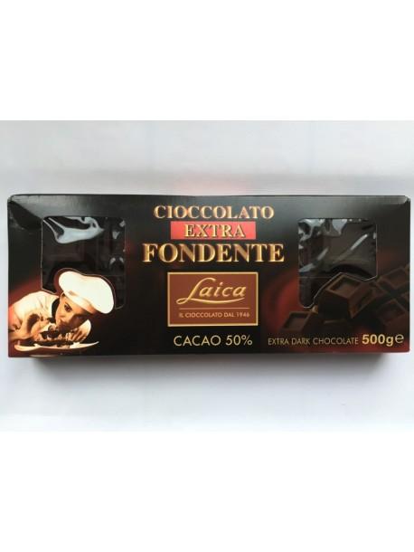Laica Extra Fondente - экстра черный шоколад 500 г