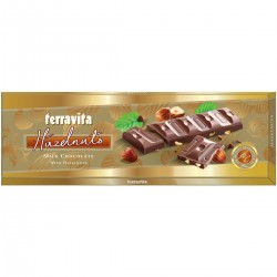 Шоколад молочный с лесным орехом Terravita 225г