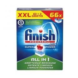Таблетки для посудомойки Finish All in One, 66 шт