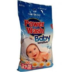 Детский стиральный порошок POWER WASH Sensitive 2.2 кг.Германия.