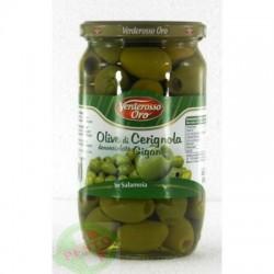 Зеленые Verderosso Oro olive di Cerignola Giganti без косточки 0.560 кг
