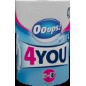 Ooops! полотенца бумажные 2-хслойные 4You 1шт (200 отрывов)