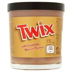 Крем шоколадно-карамельный с кусочками печенья Twix 200 г Великобритания