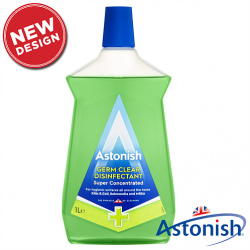 Суперконцентрированний дезинфицирующий очиститель без хлора Astonish 1 л