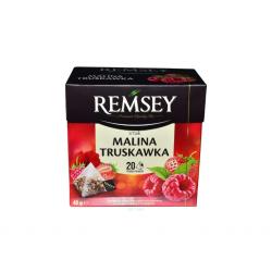 Чай фруктовый малина с клубникой Remsey 20 пакетиков 40g (Польша)
