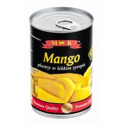 Консервированное манго кусочками MK mango plastry 410g