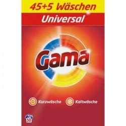 Порошок для стирки белья Gama 3в1 Универсальный, 3.25 кг (50 стирок)