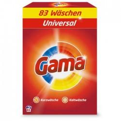 Порошок для стирки белья Gama 3в1 Универсальный, 5.395 кг (83 стирки)