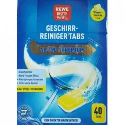 Таблетки для посудомоечной машины REWE ALL-in-1-Premium, 40 шт