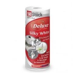 Салфетки универсальные Deluxe Silky White в рулоне 50 шт