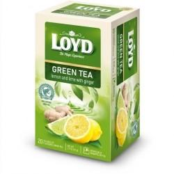 Чай зеленый с лимоном, лаймом и имбирем LOYD lemon and lime 20пакет.(34г)