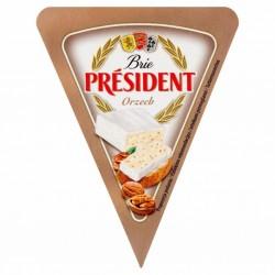 President сыр Brie с грецкими орехами 125г