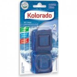 Таблетка для бачка унитаза Kolorado WC Colour синий, 2 шт