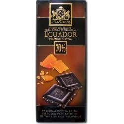 Черный шоколад J.D. Gross 125 гр Ecuador Karamell 70%