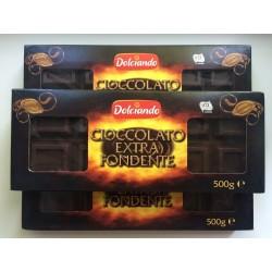 Шоколад Cioccolato Extra Fondente Dolciando 500g (Италия)