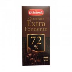 Черный шоколад Dolciando Ciccolato Extra Fondente 72% kakao, 100 (Италия)