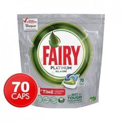 Капсулы для посудомоечной машины Fairy Platinum All-in-One Original, 70 шт