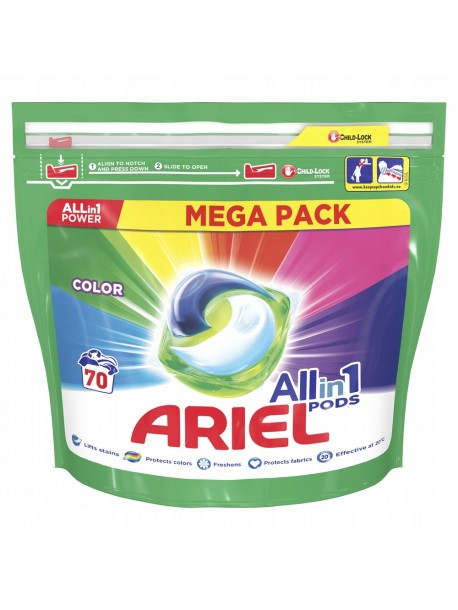 Капсулы для стирки цветного Ariel Color Pods 3 в 1 70 шт