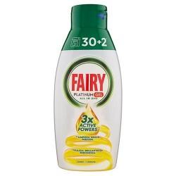 Бесфосфатный гель для посудомойки Fairy Platinum All in One Lemon 32 цикла