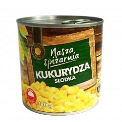 Кукуруза сладкая консервированная Nasza Spizrnia 340г (Польша)