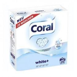Порошок стиральный CORAL White+ для белого 1,4кг 20 стирок